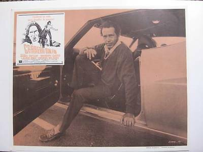 Warren Oates seating on car Two-Lane Blacktop 1971 vintage lobby card L 008