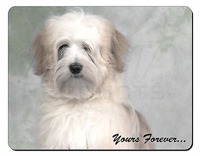 Tibetan Terrier 'Yours Forever' Computer Mouse Mat Christmas Gift Idea, AD-TT1yM