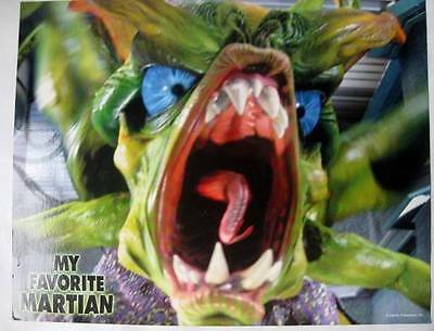 space monster close up  in My Favorite Martian 1999 vintage lobby card Leo04