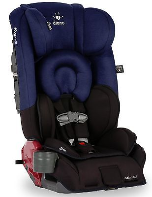 Diono Radian RXT Black Cobalt Convertible Booster Folding Child Safety Car Seat