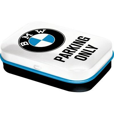 Pill box BMW Parking Only,Pillbox,Metal,with Mint tablets,New