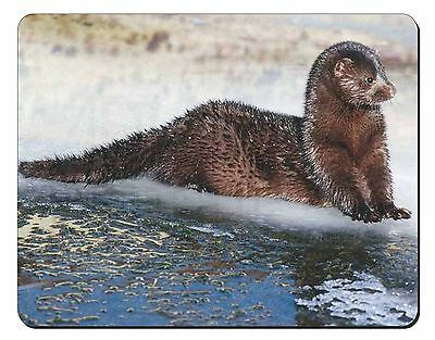 Mink on Ice Computer Mouse Mat Christmas Gift Idea, AWE-1M
