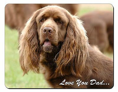 Sussex Spaniel 'Love You Dad' Computer Mouse Mat Christmas Gift Idea, DAD-122M