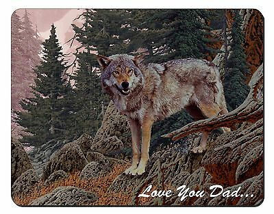 Mountain Wolf 'Love You Dad' Computer Mouse Mat Christmas Gift Idea, DAD-150M