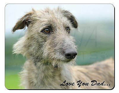 Rough Coat Lurcher 'Love You Dad' Computer Mouse Mat Christmas Gift Ide, DAD-75M