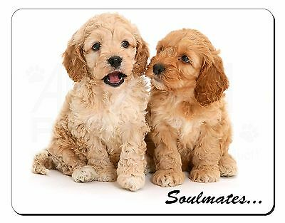 Cockerpoodle Puppy Dogs 'Soulmates' Computer Mouse Mat Christmas Gift , SOUL-27M