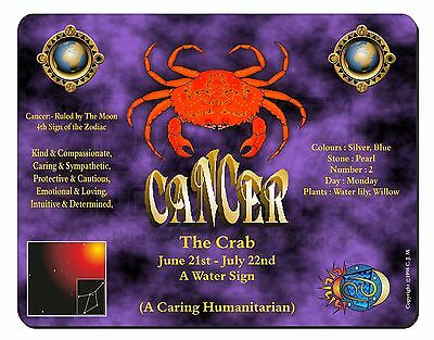 Cancer Star Sign Birthday Gift Computer Mouse Mat Christmas Gift Idea, ZOD-4M