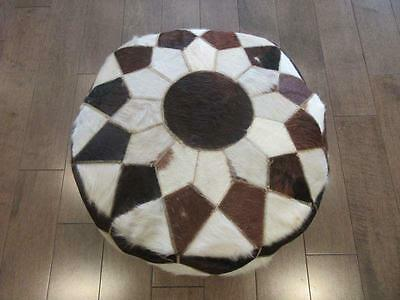 "12""x20""  X-Large Egyptian Handmade REAL LEATHER OTTOMAN Footstool Chair Pouf_NEW"