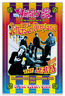 Psychedelic: Jefferson Airplane & The Leaves Whisky A Go Go  Concert Poster 1966
