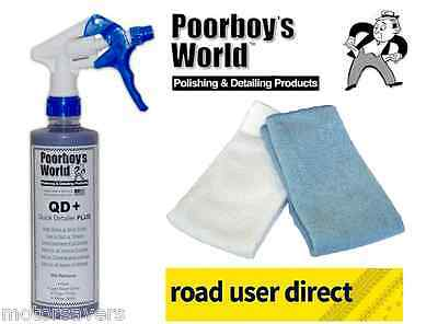 Poorboys QD Quick Detailer  & 2 Micro Fibre Cloths - Free Tracked Courier