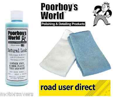 Poorboys Natural Look Cleaner & 2 Micro Fibre Cloths - Free Tracked Courier