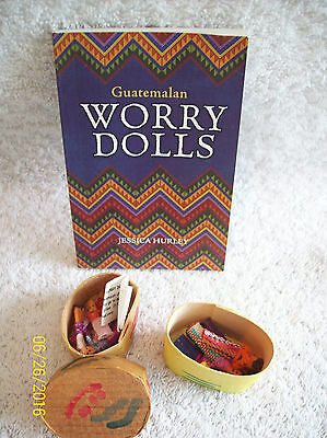 Guatemalan Worry Dolls with Book~Small (6) and Mini (6)