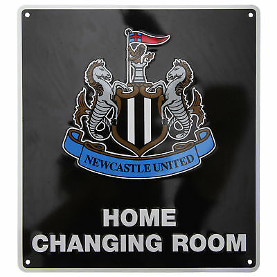 Newcastle United FC Official Home Changing Room Metal Bedroom Sign