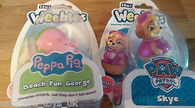WEEBLES - PEPPA PIG BEACH FUN GEORGE & PAW PATROL SKYE - NEW trade samples