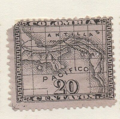 PANAMA;  1879 early classic issue unused 20c. value