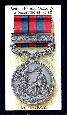 TADDY BRITISH MEDALS & DECORATIONS-SERIES 2 (BLUE) No.22 BURMA-1852