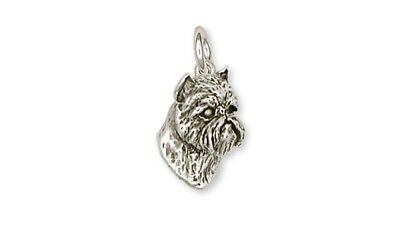 Brussels Griffon Charm Handmade Sterling Silver Dog Jewelry GF12-C
