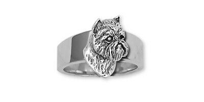 Brussels Griffon Ring Handmade Sterling Silver Dog Jewelry GF12-R