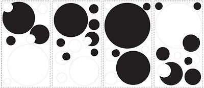 RoomMates RMK1311SCS Black and White Chalkboard Dots Peel & Stick Wall Decals