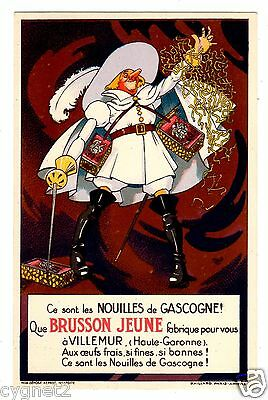 Postcard French Brusson Jeune Noodles Signed Mich