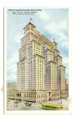 early New York,  NY   Hotel Commonwealth  used postcard  c1920