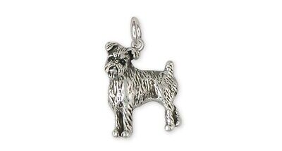 Brussels Griffon Charm Handmade Sterling Silver Dog Jewelry GR38-C