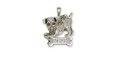 Brussels Griffon Angel Pendant Handmade Sterling Silver Dog Jewelry GF1-ANP