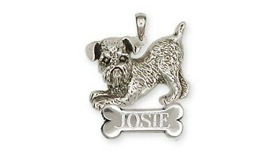 Brussels Griffon Personalized Pendant Sterling Silver Dog Jewelry GF1-NP