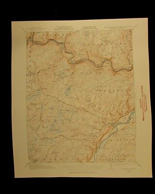 Milford New York New Jersey Pennsylvania vintage 1958 original USGS Topographica
