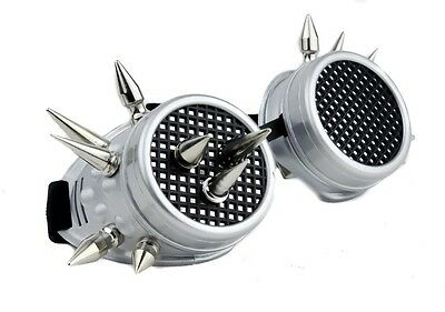 Silver Industrial Spike Goggles Cosplay Anime Cyber Welder Zombie Apocalypse