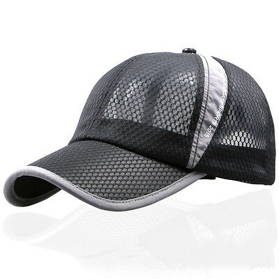 New Plain Netted Snapback Fitted Mesh Classic Trucker Baseball Cap Flat Peak Hat