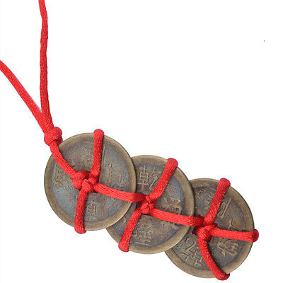 Feng Shui One PCS Brass Auspicious Good Three Trinity Knot I-Ching Coins Y1094-1
