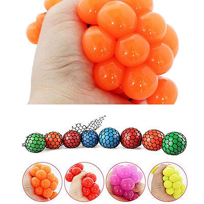 Fabulous Anti Stress Reliever Grape Ball Autism Mood Relief Squeeze ADHD Toy