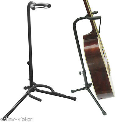 Adjustable Folding Stand Padded for Acoustic Electric Bass Guitar Studio Hanger