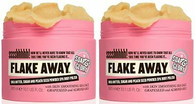 Soap And Glory Flake Away Body Polish With Shea Butter & Sea Salt 300ml Duo