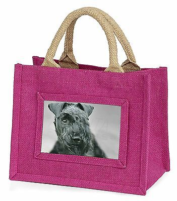 Kerry Blue Terrier Dog Little Girls Small Pink Shopping Bag Christmas, AD-KB1BMP