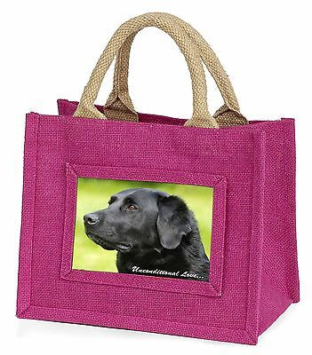 Black Labrador-With Love Little Girls Small Pink Shopping Bag Christm, AD-L1uBMP