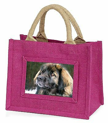 Black Leonberger 'Love You Mum' Little Girls Small Pink Shopping B, AD-L56lymBMP