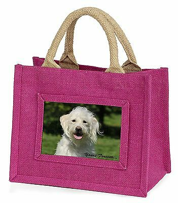 White Labradoodle 'Yours Forever' Little Girls Small Pink Shopping B, AD-LD3yBMP