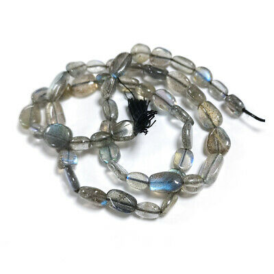 Strand Of 32+ Grey Labradorite Approx 5 x 7mm-8 x 10mm Handcut Oval Beads DW1250