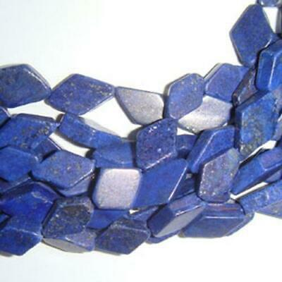 Strand 28+ Blue Lapis Lazuli Approx 7 x 10mm-7 x 12mm Handcut Kite Beads DW1275