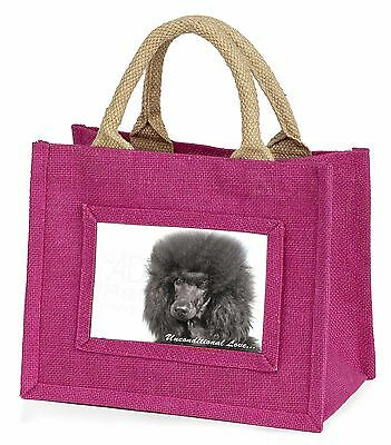 Black Poodle-With Love Little Girls Small Pink Shopping Bag Christm, AD-POD2uBMP