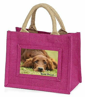Red Setter Dog 'Yours Forever' Little Girls Small Pink Shopping Bag , AD-RS2yBMP