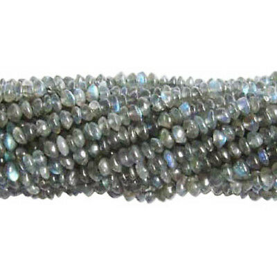 Strand Of 80+ Grey Labradorite Approx 3-8mm Handcut Rondelle Beads DW1230