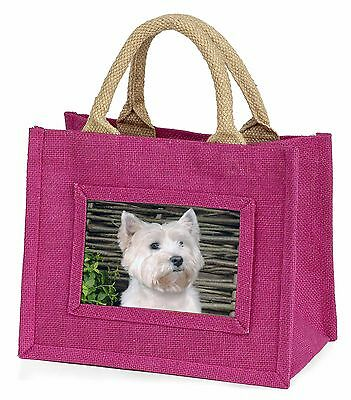 West Highland Terrier Dog Little Girls Small Pink Shopping Bag Christ, AD-W33BMP