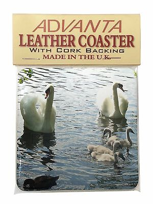 Swans and Ducks Single Leather Photo Coaster Animal Breed Gift, AB-S10SC