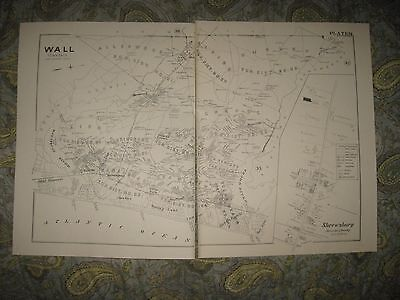 Antique 1889 1986 Copy Wall Point Pleasant Sea Girt Spring Lake New Jersey Map