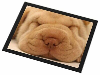Cute Shar-Pei Puppy Dog Black Rim Glass Placemat Animal Table Gift, AD-90GP
