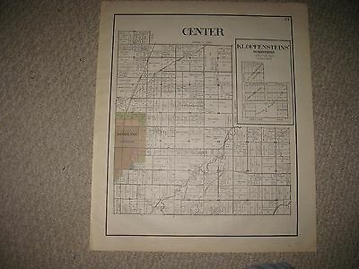 Antique 1912 Center Township Bowling Green Wood County Ohio Map Detailed Rare Nr