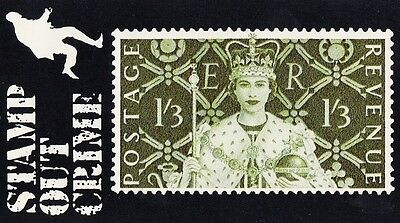 (88068) Post Office Sponsored Stamp Out Crime Card - Coronation
